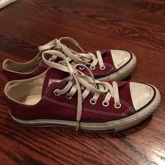 Maroon Converse Chuck Taylor All Star Low Tops